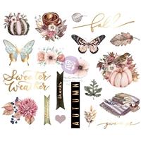 Εικόνα του Prima Marketing Hello Pink Autumn Chipboard Stickers - Αυτοκόλλητα