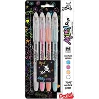 Εικόνα του Pentel Milky Pop Pastel Gel Pens .8mm - Blue, Pink, Orange, White
