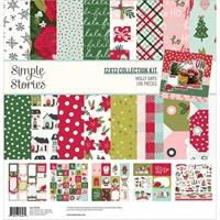 """Εικόνα του Simple Stories Double-Sided Collection Kit 12""""x12"""" – Holly Days"""