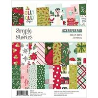 """Εικόνα του Simple Stories Double-Sided Paper Pad 6""""x8"""" – Holly Days"""