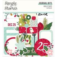 Εικόνα του Simple Stories Bits & Pieces Die-Cuts – Holly Days, Journal