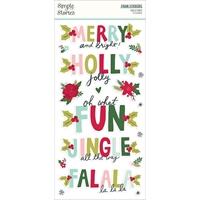 Εικόνα του Simple Stories Foam Αυτοκόλλητα – Holly Days