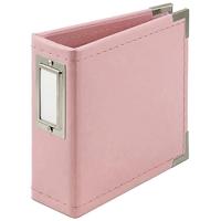 """Εικόνα του We R Memory Keepers Classic Leather D-Ring Album 4""""X4"""" – Pretty Pink"""