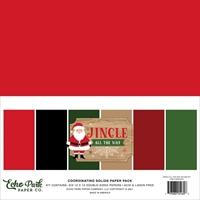 Εικόνα του Echo Park Μπλοκ Μονόχρωμων Φύλλων scrapbooking 12''x12'' – Jingle All The Way
