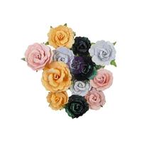 Εικόνα του Χάρτινα Λουλούδια Prima Marketing Thirty-One Mulberry Paper Flowers - Candy Corn