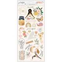 """Εικόνα του Jen Hadfield Cardstock Stickers 6""""X12""""- Peaceful Heart, Icons"""