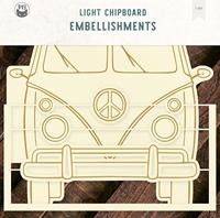 """Εικόνα του P13 Light Chipboard Album Base 6""""X8"""" - Camper"""