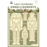 Εικόνα του P13 Light Chipboard Embellishments – Cosy Winter, #1