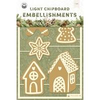 """Εικόνα του P13 Light Chipboard Embellishments 4""""X6"""" – Cosy Winter, #3"""