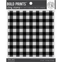 Εικόνα του Hero Arts Background Cling Stamp – Buffalo Check Pattern Bold Prints