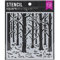 """Εικόνα του Hero Arts Hero Arts Stencil 6""""X6"""" – Woodland Forest"""
