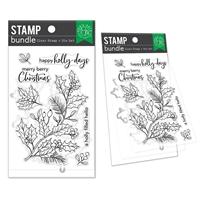 Εικόνα του Hero Arts Clear Stamp & Die Combo – Holly Berries