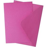 Εικόνα του Sizzix Surfacez Card & Envelope Pack A6 - Pink Fizz