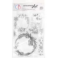 """Εικόνα του Ciao Bella Stamping Art Clear Stamps 6""""X8"""" - Wreaths & Mulled Wine"""
