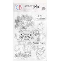 """Εικόνα του Ciao Bella Stamping Art Clear Stamps 6""""X8"""" – Hot Apple Cider"""