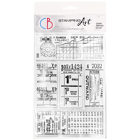 """Εικόνα του Ciao Bella Stamping Art Clear Stamps 4""""X6"""" – Tickets II"""