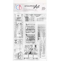 """Εικόνα του Ciao Bella Stamping Art Clear Stamps 6""""X8"""" – Tickets"""